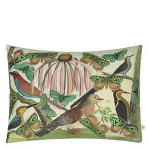 Designers Guild Floral Aviary Parchment Decorative Pillow - Lavender Fields