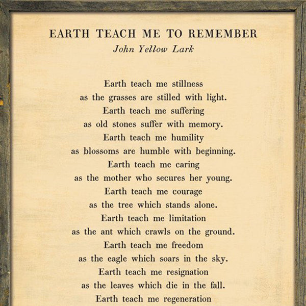 Sugarboo Designs Earth Teach Me to Remember - Poetry Collection Sign - Lavender Fields