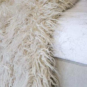 Pom Pom at Home Eva Winter White Throw - Lavender Fields