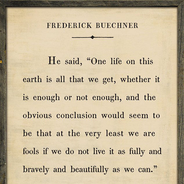 Sugarboo Designs Frederick Buechner Book Collection Sign - Lavender Fields