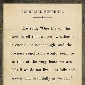 Sugarboo Designs Frederick Buechner Book Collection Sign