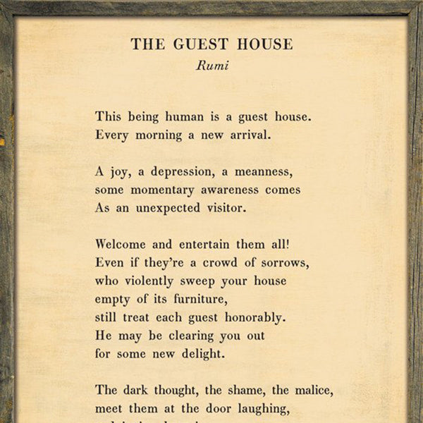 Sugarboo Designs The Guest House Poetry Collection Sign - Lavender Fields