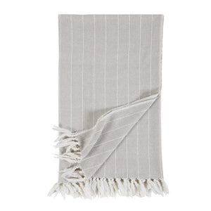 Pom Pom at Home Henley Oat Throw - Lavender Fields