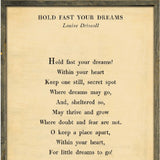 Sugarboo Designs Hold Fast Your Dreams - Poetry Collection Sign - Lavender Fields