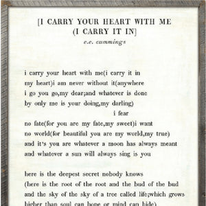 Sugarboo Designs I Carry Your Heart - Poetry Collection Sign - Lavender Fields