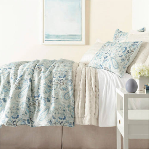 Pine Cone Hill Ines Linen Blue Duvet Cover - Lavender Fields