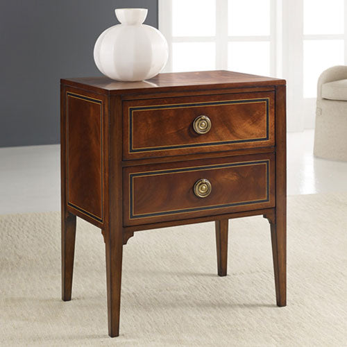 Modern History Inlaid Bedside Chest