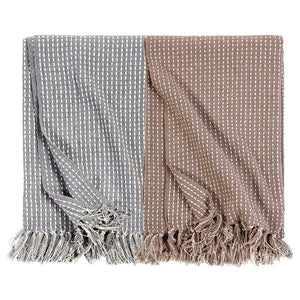 Pom Pom at Home Jasper Handwoven Oversized Throw - Taupe