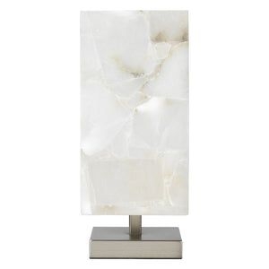 Jamie Young Ghost Axis Table Lamp - Silver Base - Lavender Fields