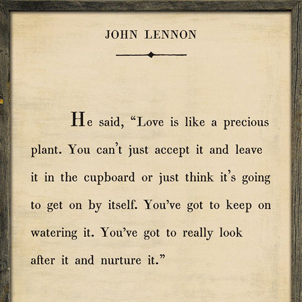 Sugarboo Designs John Lennon Book Collection Sign