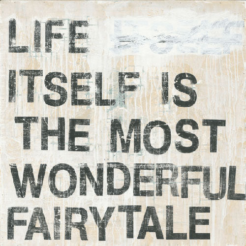 "Sugarboo Designs Life Itself is the Most Wonderful Fairytale Art Print (Gallery Wrap) 12"" x 12"" - Lavender Fields"