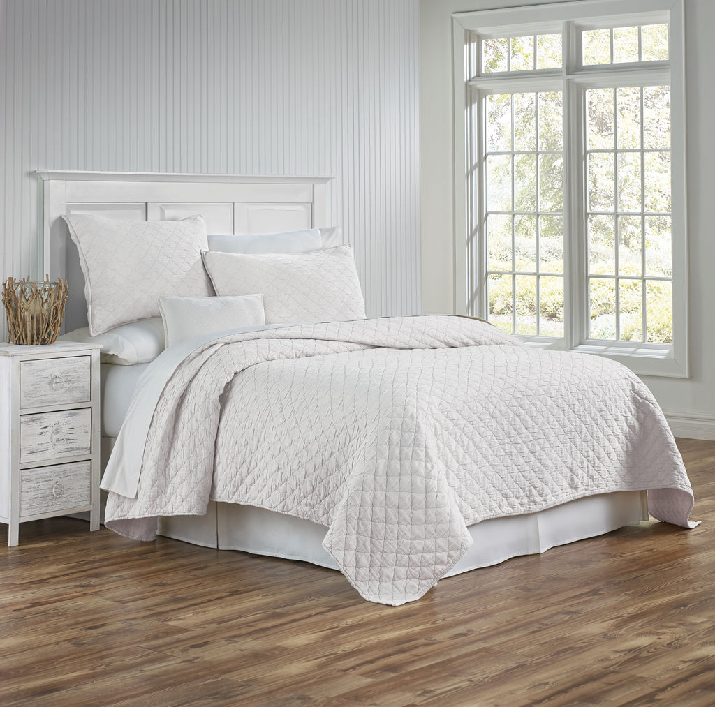 Traditions Linens Louisa Ivory Coverlet