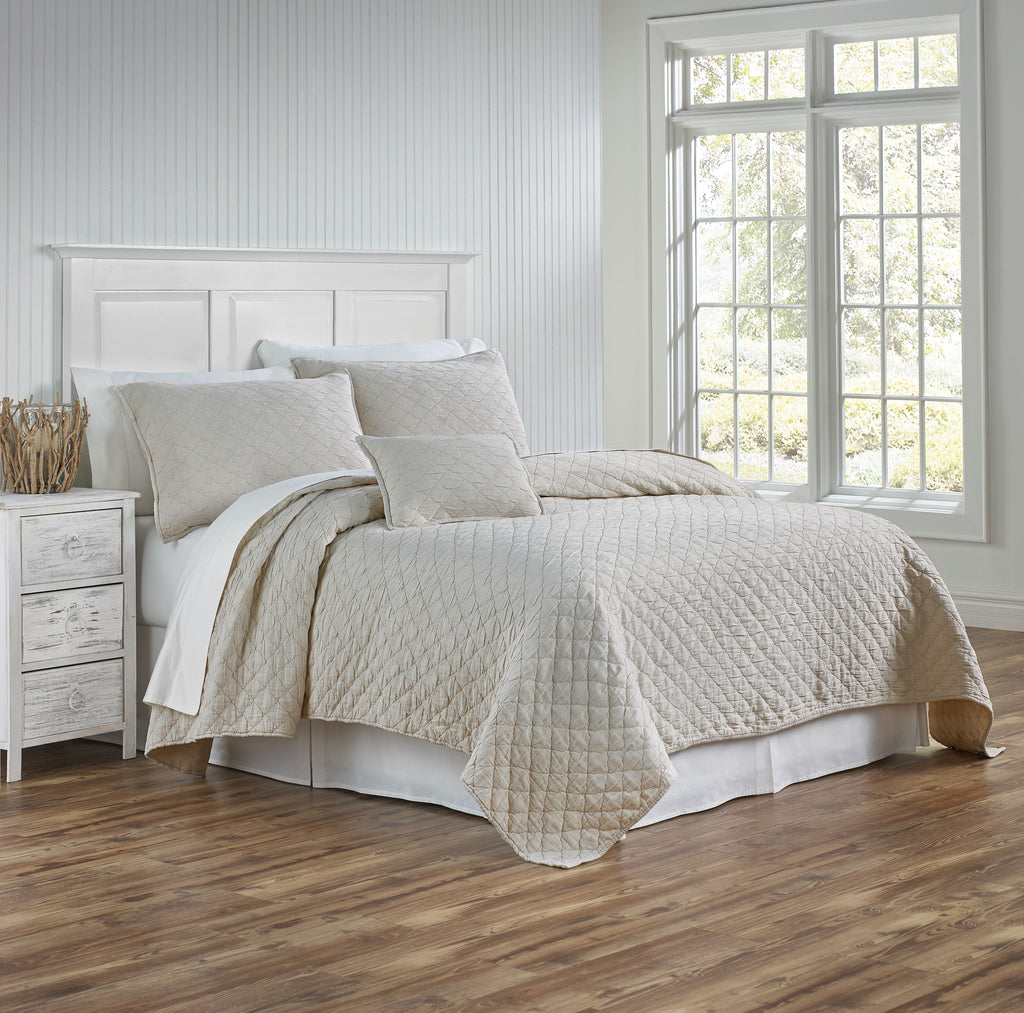 Traditions Linens Louisa Gray Coverlet