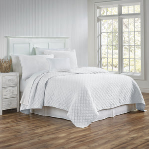 Traditions Linens Louisa White Coverlet