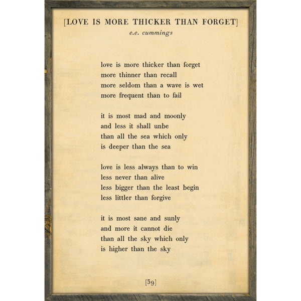 Sugarboo Designs Love is More Thicker - Poetry Collection Sign - Lavender Fields