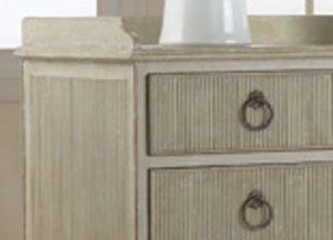 Modern History Gustavian Bedside Cabinet in Antique Grey