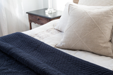 Pom Pom at Home Marseille Navy Large Euro Pillow Sham - Lavender Fields