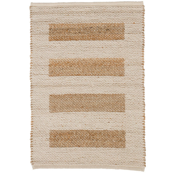 Dash and Albert Milo Ivory Woven Jute/Cotton Rug - Lavender Fields