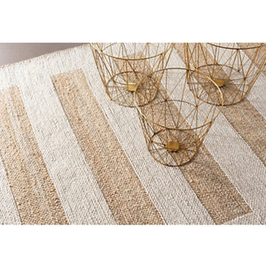 Dash and Albert Milo Ivory Woven Jute/Cotton Rug