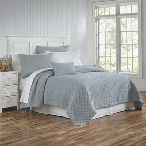 Traditions Linens Louisa Mist Coverlet - Lavender Fields
