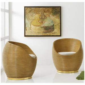 Modern History Riviera Swivel Tub Chair