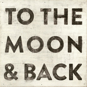 Sugarboo Designs To the Moon and Back Art Print