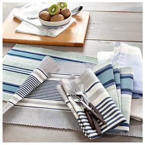 Pine Cone Hill Barbadoes Stripe Placemat - Set of 4 - Lavender Fields