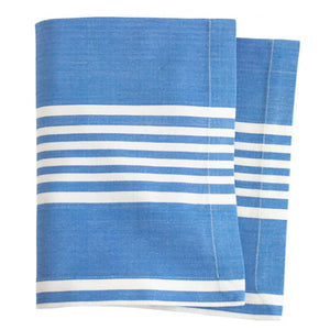 Pine Cone Hill Bistro Stripe French Blue Napkin - Set of 4