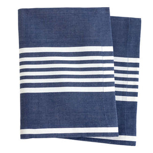 Pine Cone Hill Bistro Stripe Indigo Napkin - Set of 4 - Lavender Fields