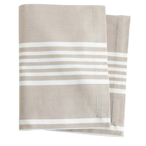 Pine Cone Hill Bistro Stripe Platinum Napkin - Set of 4