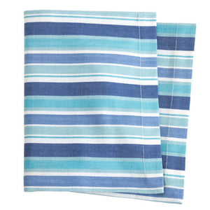 Pine Cone Hill Bluemarine Stripe Napkin - Set of 4 - Lavender Fields