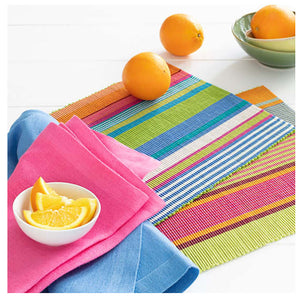 Pine Cone Hill Mellie Stripe Placemat - Set of 4 - Lavender Fields