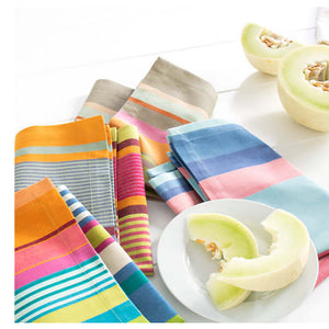 Pine Cone Hill Stone Soup Stripe Napkin - Set of 4 - Lavender Fields