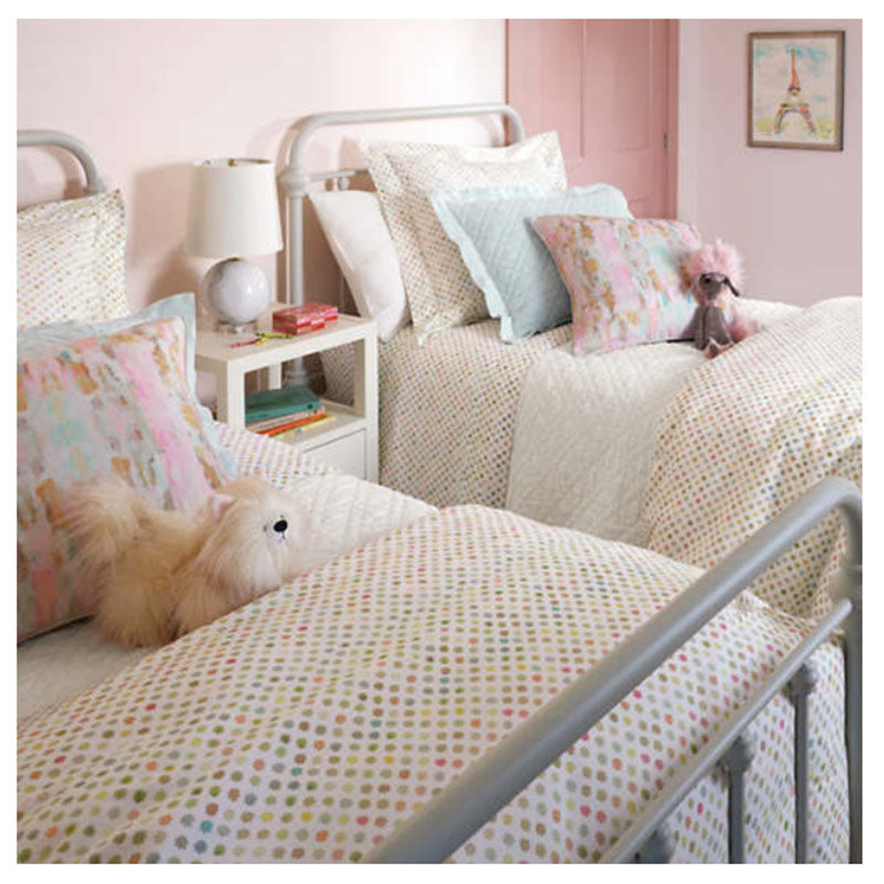 Pine Cone Hill Watercolor Dots Duvet Cover - Lavender Fields