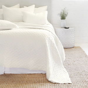 Pom Pom at Home Hampton Cream Coverlet - Lavender Fields