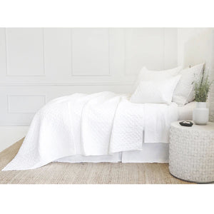 Pom Pom at Home Hampton White Coverlet - Lavender Fields