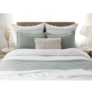 Pom Pom at Home Harbour Matelasse Sea Glass Coverlet - Lavender Fields