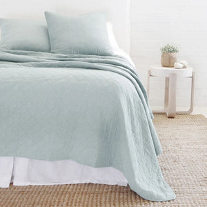 Pom Pom at Home Huntington Sea Glass Coverlet - Lavender Fields