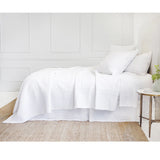 Pom Pom at Home Marseille White Large Euro Pillow Sham