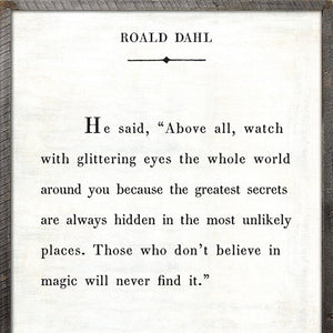 Sugarboo Designs Roald Dahl Book Collection Sign