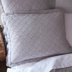 Taylor Linens Salt River Grey Sham - Lavender Fields