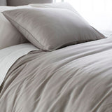 Pine Cone Hill Silken Solid Grey Duvet Cover