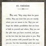 Sugarboo Designs St. Therese Book Collection Sign
