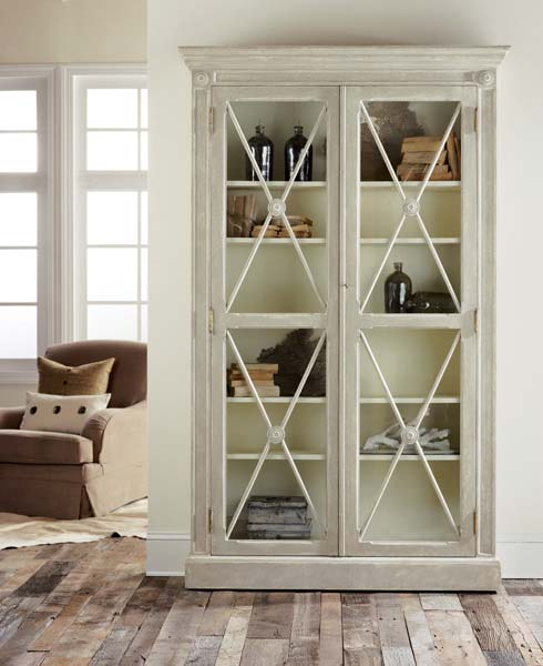 Modern History Swedish 2-Door Bookcase - Lavender Fields