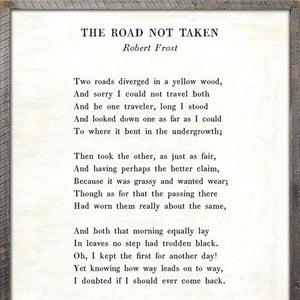 Sugarboo Designs The Road Not Taken Poetry Collection Sign - Lavender Fields