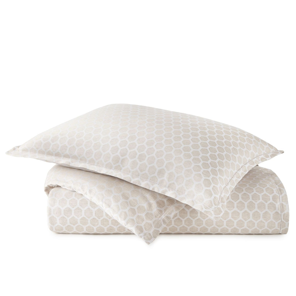 Peacock Alley Honeycomb Linen Duvet Cover