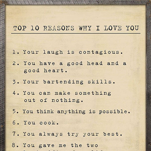 Sugarboo Designs Top Ten Reasons Art Print