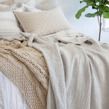 Pom Pom at Home Venice Oversized Throw - Taupe - Lavender Fields