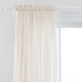 Pine Cone Hill Heirloom Voile Ivory Curtain Panel