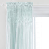 Pine Cone Hill Heirloom Voile Robin's Egg Blue Curtain Panel